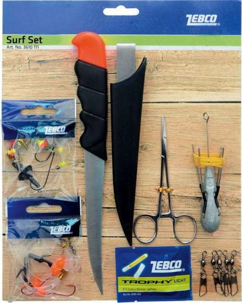 ZEBCO Surf Set 14-teilig zum Brandungsangeln