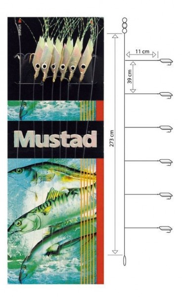 Mustad Piscator X-white Rig T91