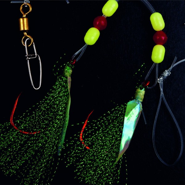 FLADEN Cod & Pollack Rig with green feathers Gr. 5/0