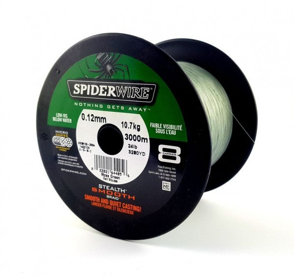 SPIDERWIRE Stealth Smooth 8 Moss Green - Braided Line
