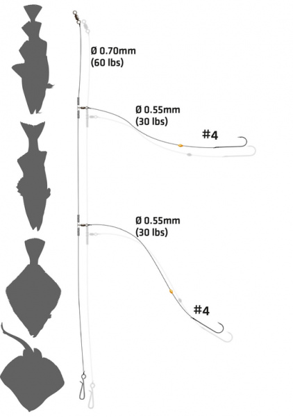 Zebco Double Hook Flapper Surf Rig - Brandungsvorfach
