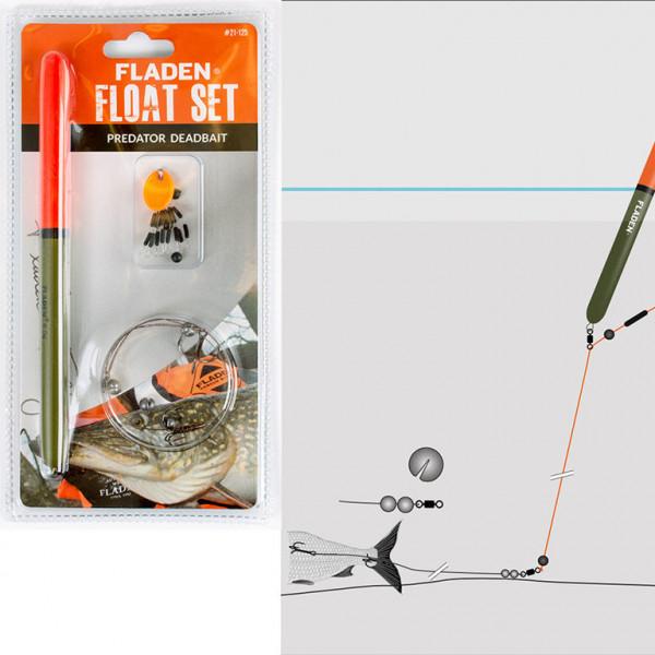 FLADEN Set mit Pose für toten Köderfisch
