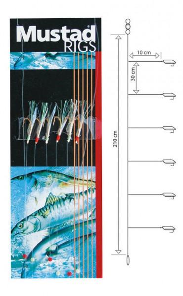 Mustad Fishskin Bi-color Rig T81