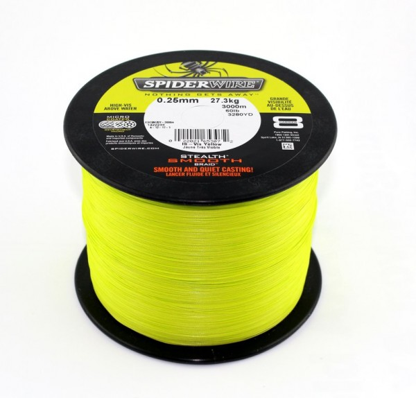 SPIDERWIRE Stealth Smooth 8 Yellow - Braided Line