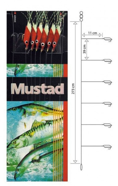 Mustad Piscator X-red Rig T93
