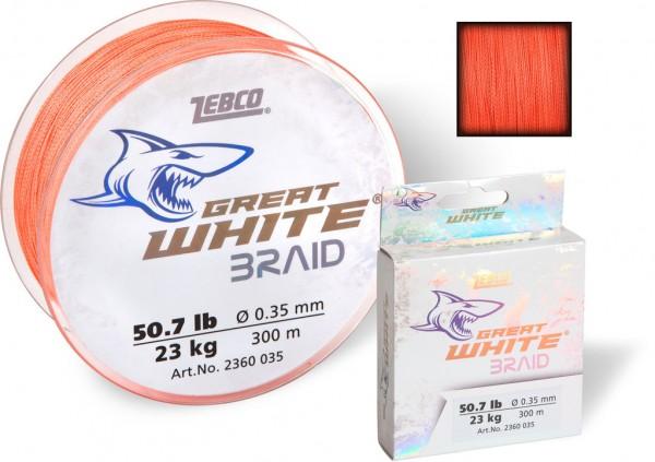 ZEBCO Great White Braid - geflochtene Schnur - Orange