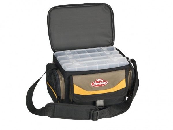 Berkley Gerätetasche mit 4 Köderboxen Grau/Gelb/Schwarz